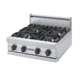 "Stainless Steel 24"" Sealed Burner Rangetop - VGRT (24"" Wide, four burner)"