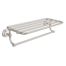 Iso brushed nickel towel shelf
