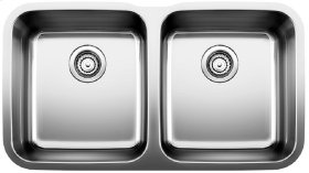 Blanco Stellar® Equal Double Bowl - Stainless steel refined brushed finish