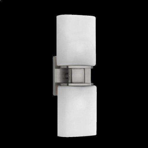2-LIGHT WALL SCONCE - Satin Nickel