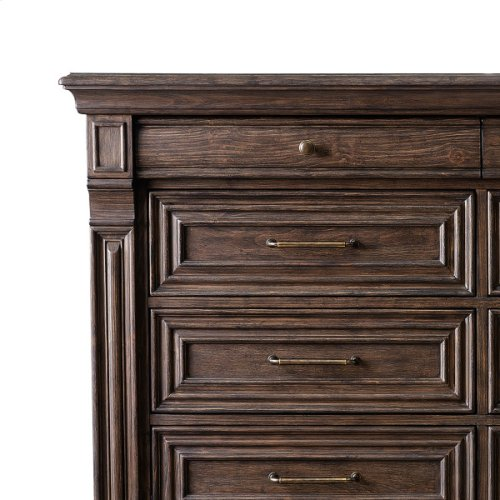 P142127  Bedford Heights 12 Drawer Master Chest in Estate Brown