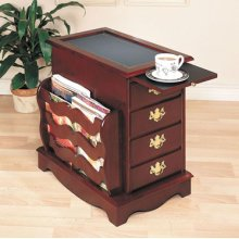 """""""Heirloom Cherry"""" Magazine Cabinet Table - overpacked"""