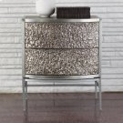 Crinkle Bedside Chest-Nickel/Antique Nickel Product Image