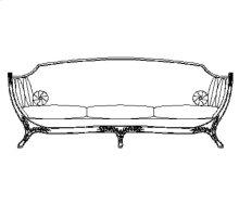 Empire Style Sofa (Gold Leaf/Velvet Lime)