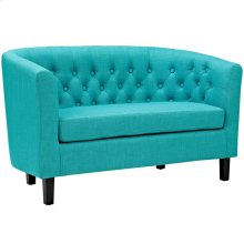 Prospect Upholstered Fabric Loveseat in Pure Water