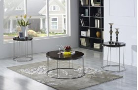 Emerald Home Penthouse 3 Pack Occasional Tables Dark Brown T8900-3