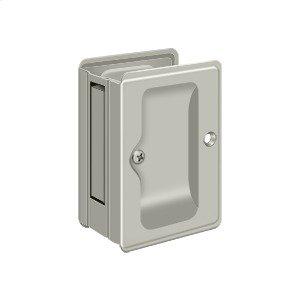 "HD Pocket Lock, Adjustable, 3 1/4""x 2 1/4"" Passage - Brushed Nickel"