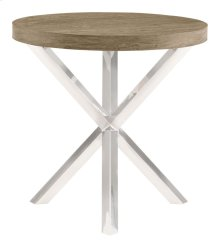 Pelham Round Chairside Table Wood Top and Base