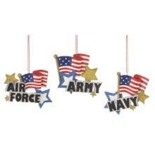 Military Branch Ornament (3 asstd).