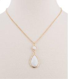 BTQ White Drop Stone Necklace