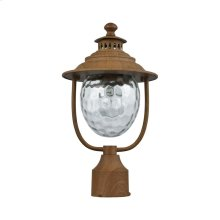 Searsport 1-Light Outdoor Post Mount in Dark Wood