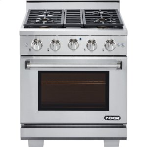 """Nxr Ranges30"""" Professional Style Gas Range in Stainless Steel"""