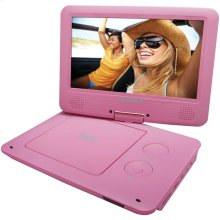 """9"""" Portable DVD Player with 5-Hour Battery (Pink)"""