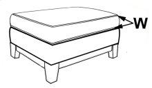 Storage Ottoman, Avaliable with 5'' Plinth Base in Grey Wash, Cottage White, Royal Oak, Black Teak, White Teak, or Vintage smoke Finish.