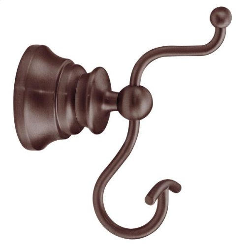 Waterhill oil rubbed bronze double robe hook