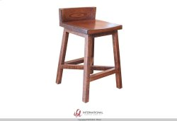 "24"" Stool - with wooden seat & base Product Image"