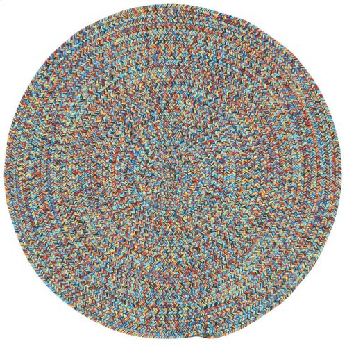 Sea Glass Fiesta Bright Multi Braided Rugs (Custom)