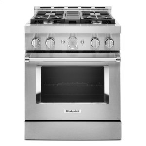 KitchenAidKitchenAid® 30'' Smart Commercial-Style Gas Range with 4 Burners - Stainless Steel