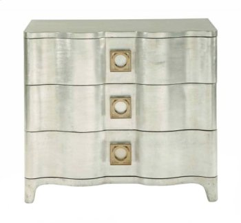 Salon Nightstand in Salon Antique Silver Leaf (341) Product Image