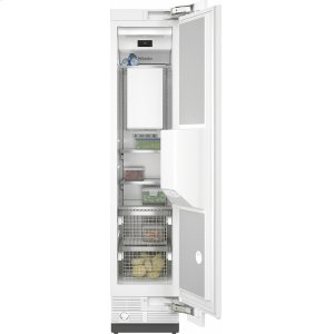 MieleF 2461 Vi MasterCool freezer Integrated IceMaker features separate water and ice dispensers.