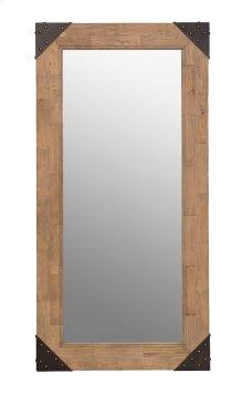 Old Floor Wood Mirror