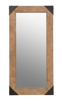 Old Floor Wood Mirror