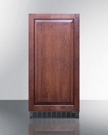 """15"""" Wide 62 Lb. Built-in Undercounter Commercially Listed Indoor/outdoor Clear Icemaker With Gravity Drain and Panel-ready Door"""