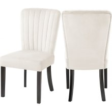 "Shelby Vlevet Dining Chair - 20.5"" W x 23.5"" D x 39"" H"