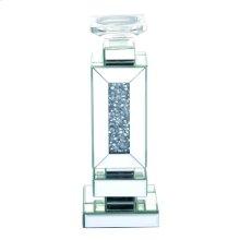 13.5 inch tall Crystal Candleholder Silver Royal Cut Crystal