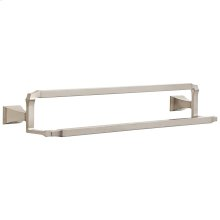 "Stainless 24"" Double Towel Bar"