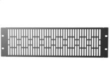 Black 3U Steel Vented Blanking Panel; Fits all Component Series AV racks