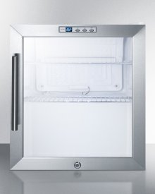 Commercially Approved Built-in Capable Glass Door Refrigerator With Digital Thermostat and White Cabinet Finish