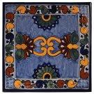 "4"" Asters Decorative Talavera Tiles Product Image"