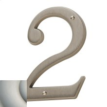 Satin Nickel with Lifetime Finish House Number - 2