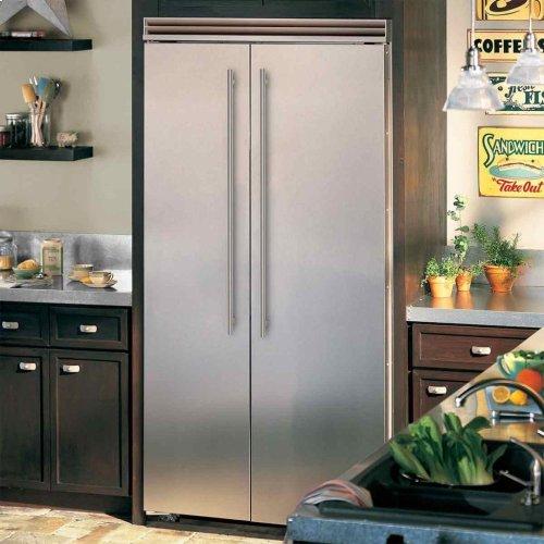 """Marvel Professional Built-In 42"""" Side-by-Side Refrigerator Freezer - Marvel Professional Built-In 42"""" Side-by-Side Refrigerator Freezer - Stainless Steel Doors, Slim Designer Handles"""