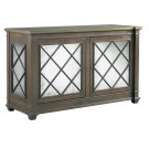 Addison 2 Door Server -Brass Trim Top Product Image