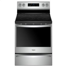 Whirlpool® 6.4 Cu. Ft. Freestanding Electric Range with Frozen Bake™ Technology - Fingerprint Resistant Stainless Steel