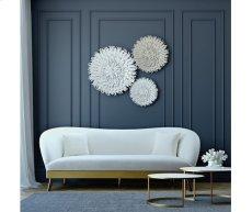 Chloe Cream Velvet Sofa Product Image