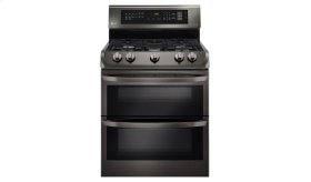 LG Black Stainless Steel Series 6.9 cu. ft. Gas Double Oven Range with ProBake Convection®, EasyClean®