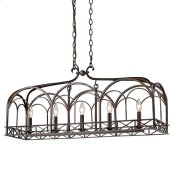 Smithsonian Gateway 5 Light Linear Pendant in Fired Bronze