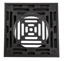 """6"""" Square Solid Nickel Bronze Plated Grid Shower Drain - Brushed Nickel"""