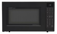 1.5 cu. ft. 900W Sharp Matte Black Carousel Convection Microwave Oven (SMC1585BB)