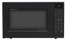 1.5 cu. ft. 900W Sharp Matte Black Carousel Convection Microwave Oven (SMC1585BB)