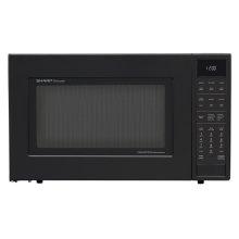 1.5 cu. ft. 900W Sharp Matte Black Carousel Convection Microwave Oven