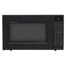 1.5 cu. ft. 900W Sharp Matte Black Carousel Convection Microwave Oven