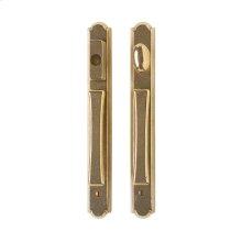 "Arched Entry Sliding Door Set 1 3/8"" x 11"" White Bronze Brushed"