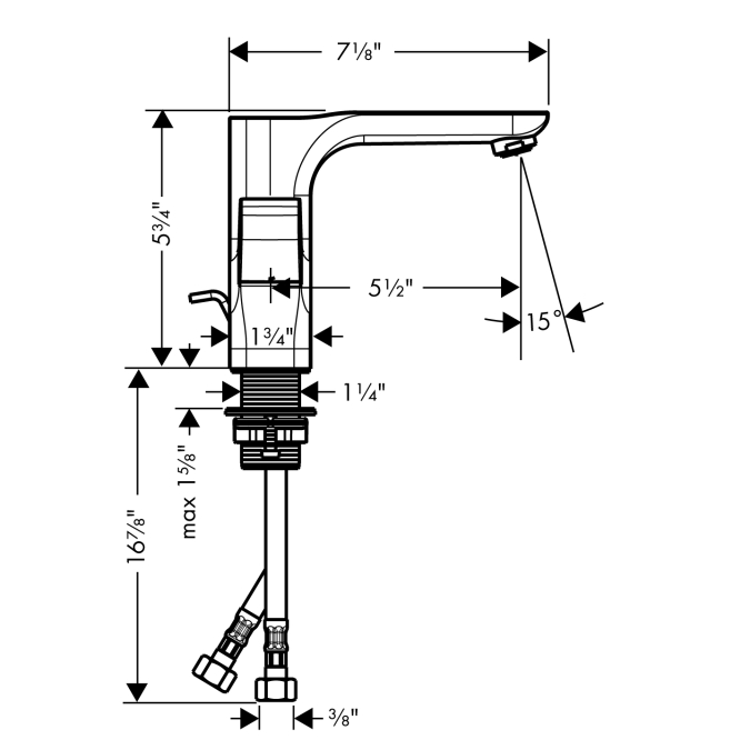 Additional Chrome Urquiola 2-Handle Single Hole Faucet