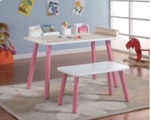 TABLE/CHAIR PINK/WHITE