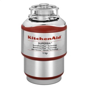KitchenaidKitchenAid(R) 1-Horsepower Continuous Feed Food Waste Disposer - Red