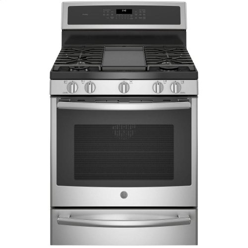 "GE Profile™ Series 30"" Free-Standing Gas Convection Range with Warming Drawer"